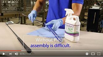 How to Assemble Grips with P-80 Temporary Rubber Lubricants